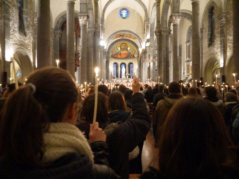 Le Sanctuaire de Notre Dame de La Salette, intérieur de la Basilique