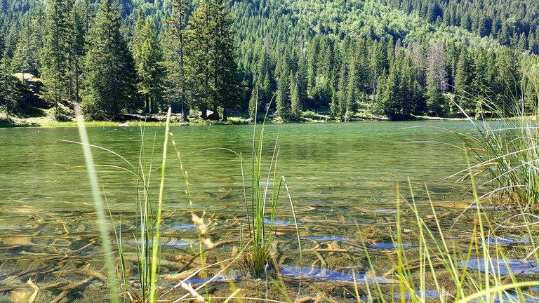 Lac du Poursollet, lac d'altitude avant le lac Fourchu
