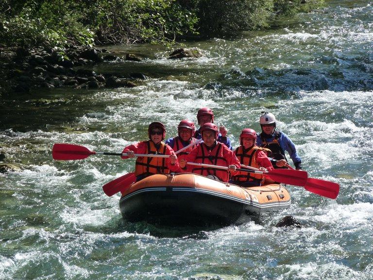Rafting sur la rivière de La Bonne dans le Valbonnais
