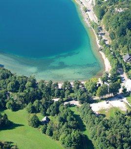 Beach of Laffrey's lake