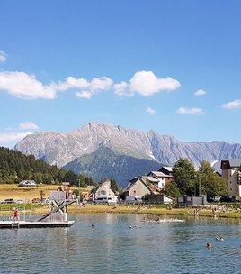 Swimming lake of Alpe du Grand Serre