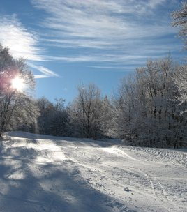 Cross Country skiing area in Ornon