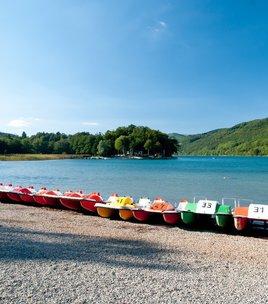 Pedal boats on Lake Laffrey